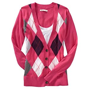 Old Navy Womens Argyle Cardigans