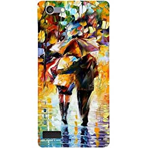 Casotec Paint Couple Pattern Design 3D Printed Back Case Cover for Oppo Neo 7