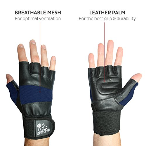 """Women S Fitness Gloves With Wrist Support: Weight Lifting Gloves With 12"""" Wrist Support For Gym"""
