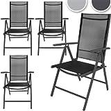 Lot de 4 chaises aluminium de jardin terrasse - 55cm x 67cm x 110 cm DIVERSES COULEURS AU CHOIX
