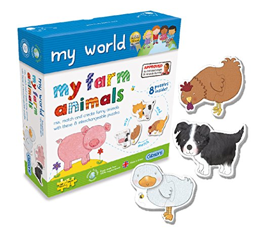 Gibsons My Farm Animals Jigsaw Puzzles