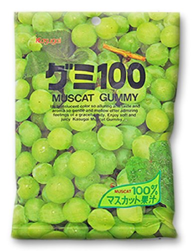 Japanese Fruit Gummy Candy from Kasugai - Muscat Grape - 107g