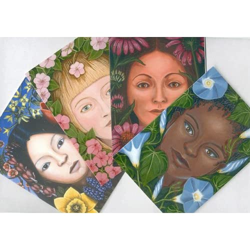The Sisterhood of Flora --Blank Notecards, Box of 12, Humphrey, Sheryl (illustrator)