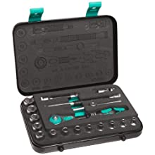 Wera Zyklop 8100 SA 1 1/4-Inch Metric Ratchet Set, 18-Piece