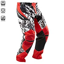Tenn Mens Rage MX/DH/BMX Off Road Race Cycling Pants - Red - Lrg