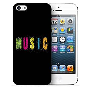 Snoogg Music Printed Protective Phone Back Case Cover For Apple Iphone 5 / 5S