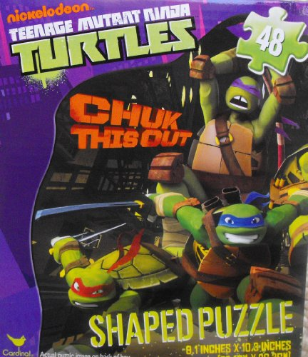 Teenage Mutant Ninja Turtles 48 Piece Shaped Puzzle ~ Chuk This Out
