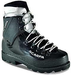 Scarpa Inverno Mountaineering Boots Black 11 & Etip Lite Gripper Glove Bundle