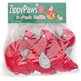 ZippyPaws Burrow Squeaky Birds Plush Dog Toys, Medium, 3-Pack