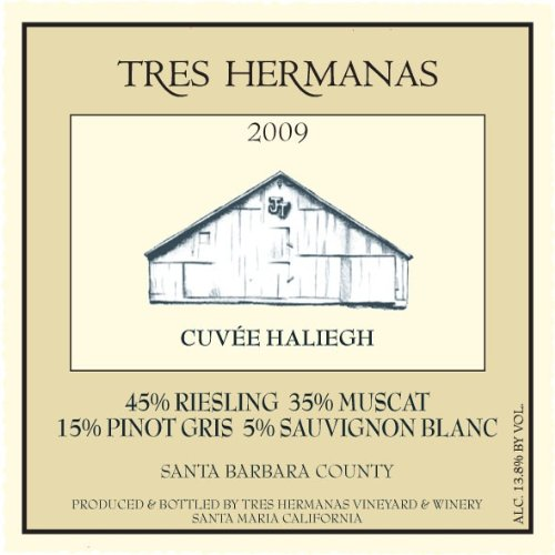2009 Tres Hermanas Winery Cuvée Haliegh White Blend 750 Ml