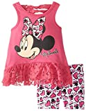 Disney Baby Girls' 2 Piece Minnie Mouse Screenprint Ruffle Bike Set