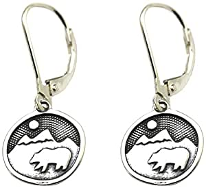Amazon.com : Tarma Sterling Silver Bear Happy Earrings, One Size