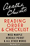 Agatha Christie Reading Order and Checklist: Hercule Poirot series, Miss Marple series, Tommy and Tuppence, plus all other books and short stories (Series List Book 19)