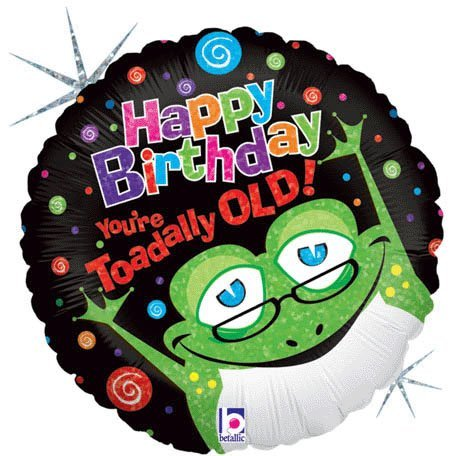 Betallic 86597P Toad Ally Old Packed Balloon, 18""