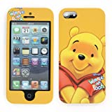SilverCon - Disney Winnie the Pooh Style Hard Double Face Case Cover for Apple iPhone 5 5G 5Generation with Free SilverCon Universal Cable Tie