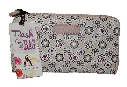 Portafoglio Pashbag by L'atelier du sac mod 4370 porte monnaie ROSA