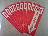 "Sign, ""Fire Extinguisher"" w/ Arrow, Self Adhesive Vinyl, 4""x12"""