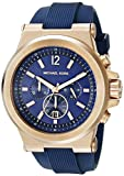 Michael Kors Dylan Navy Dial Rose Gold-tone Navy Silicone Strap Mens Watch MK8295