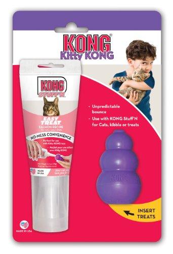 Image KONG Kitty KONG & Stuff'N Easy Treat Salmon Combo, Cat Toy