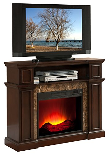 Convenience Concepts Madison Tv Stand With Fireplace Espresso Finish Home Garden Fireplaces