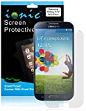 Ionic Screen Protector Film Matte (Anti-Glare) for Samsung Galaxy S4 2013 Model Smartphone (ATT, T-Mobile, Sprint, Verizon) (3-pack)