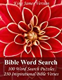 img - for King James Bible Word Search: 100 Word Search Puzzles with 250 Inspirational Bible Verses in Jumbo Print book / textbook / text book