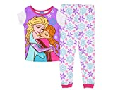 Disney Frozen Little Girls' Hugging Sisters Elsa & Anna Cotton Pajama Set