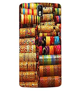 ColourCraft Lovely Bangles Design Back Case Cover for OnePlus One