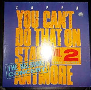 Amazon Com Frank Zappa You Can T Do That On Stage