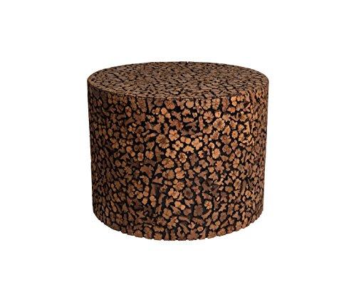 Amaris-Elements-Adams-Runder-massiver-Beistelltisch-aus-eldem-Schlangen-Holz-braun-schwarz