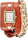 La Mer Collections Women's LMSCW4000 Malibu Gold Cantaloupe Wrap Watch