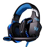VersionTech Comfortable LED 3.5mm Stereo Gaming LED Lighting Over-Ear Headphone Headset Headband With Mic For...