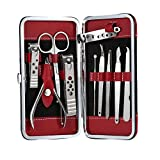 Anself 10-in-1 Stainless Steel Manicure Pedicure Ear Pick Nail Clippers Set