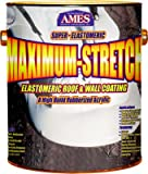 Ames Maximum Stretch Premium Roof Top Coat 25 % Rubber Tintable White 1 Gl