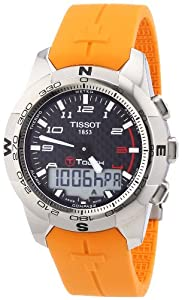 Tissot T-TOUCH T0474204720701 - Reloj de caballero de cuarzo, correa de acero inoxidable color gris