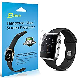 Apple Watch Screen Protector, JETech® 42mm Premium Tempered Glass Screen Protector for Apple Watch (42mm)