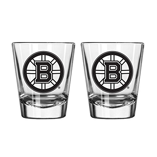 NHL Boston Bruins Game Day Shot Glass, 2-ounce, 2-Pack