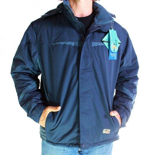 Mens Waterproof Ski Jacket Fleece Winter Coat (Small - 12, Navy)