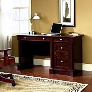 Sauder Palladia Computer Desk in Select Cherry