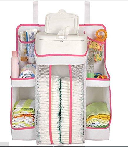 Soho Nursery Organizer (White & Pink) front-478522