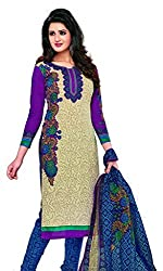 KOMAL ARTS Ethnicwear Women's Dress Material (Multi-Coloured_Free Size)