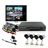 ZMODO 4CH CCTV Security Weatherproof Outdoor Color IR Camera DVR System 500GB