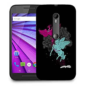 Snoogg Flying Bird And Horse Designer Protective Back Case Cover For MOTOROLA G3