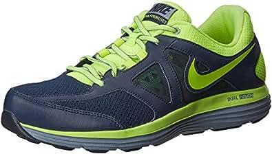 Nike Men's Dual Fusion Lite 2 Msl Obsidian,Volt,Magnet Grey  Running Shoes -11 UK/India (46 EU)(12 US)