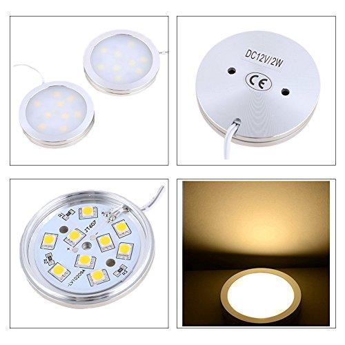 Armoire lumière jltph Lot de 6 Kit d'éclairage LED sous