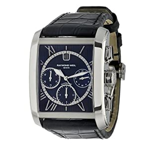Raymond Weil Men's 4878-STC-00200 Don Giovanni Cosi Grande Stainless Steel Case Black Leather Strap with Crocodile Pattern Watch