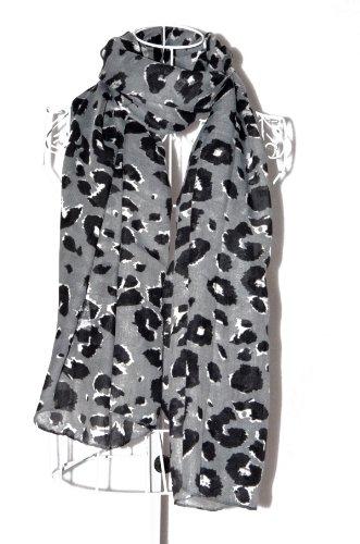 Icon Fashion Leopard Print Scarves For Women Cool Cheetah Scarf/Shawl/Wrap (Gray)
