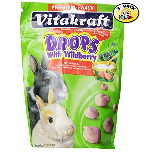 Vitakraft Wild Berry Drops for Rabbits - 3 PACK (Yogurt Drops For Rabbits compare prices)
