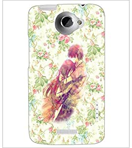 PrintDhaba Couple D-5436 Back Case Cover for HTC ONE X (Multi-Coloured)