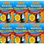 6 x Wardrobe Dehumidifier